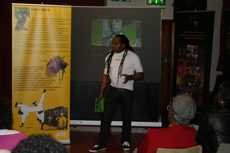 David Knight explains the Culture Banner at the Out of Africa Launch