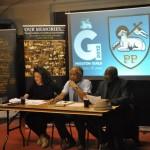 Clinton Smith , Chair (centre), Jonathan Pond, Treasurer (right), Christina Cooper, Secretary (left), Preston Black History Group committee