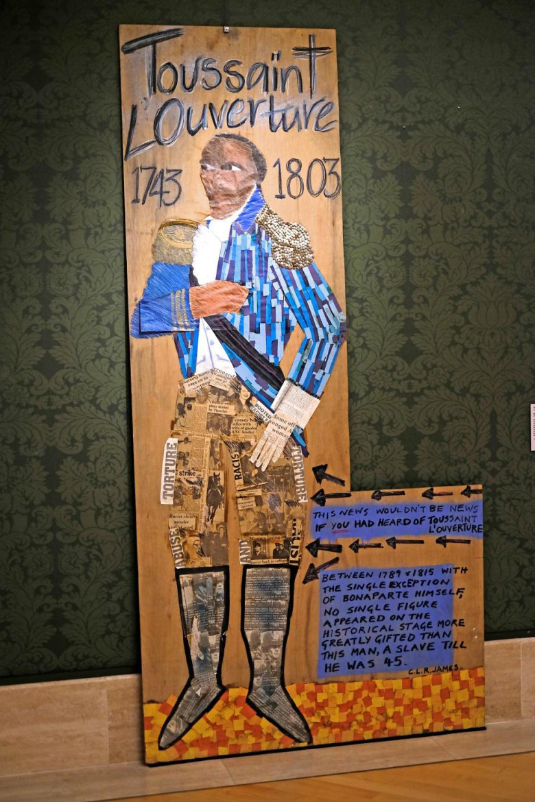 "Lubaina Himid, ""Toussaint L'Ouverture"" (1987) (as displayed in ""No Colour Bar: Black British Art in Action, 1960-1990,"" Guild Hall Art Gallery, London, 2015/16"